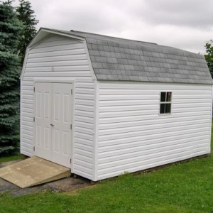 10x14 Hi-Side Barn With Vinyl Siding