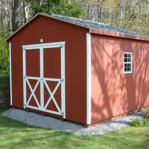 12x12 Workshop With Painted T1-11 Siding