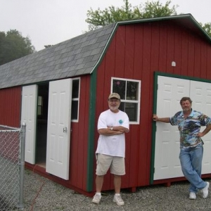 12x24 Hi-side Barn With Painted T1-11 Siding