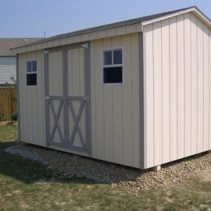 8x12 Workshop With Painted T1-11 Siding