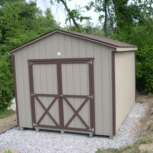 10x14 Workshop With Painted T1-11 Siding