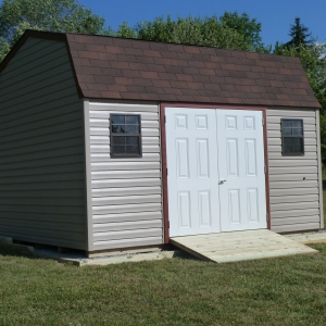12x14 Hi-Side Barn With Vinyl Siding