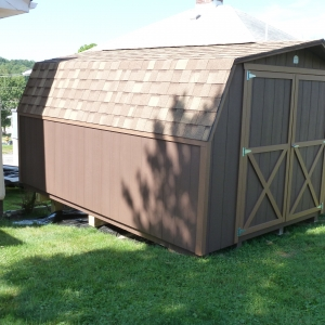 10x14 Mini Barn With Painted T1-11 Siding