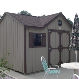 10x14 Chateau With Painted T1-11 Siding