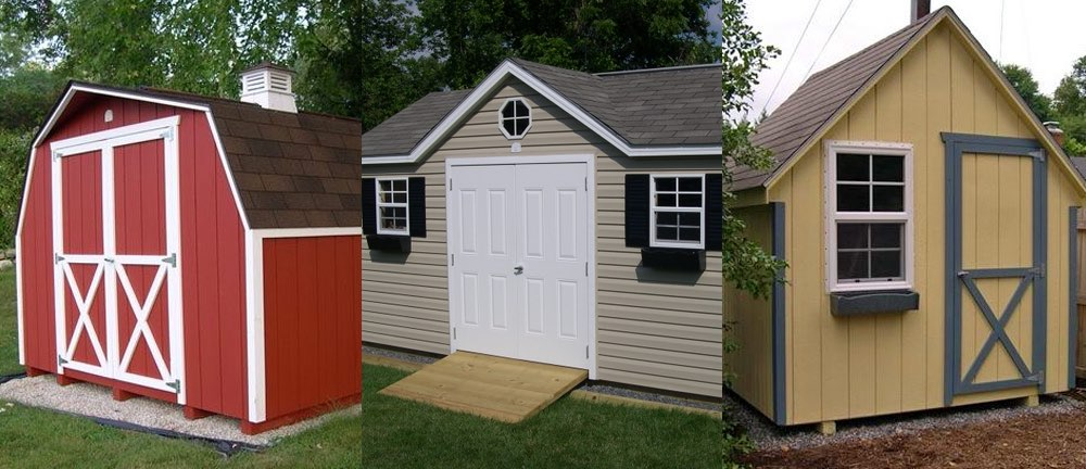 Outdoor storage sheds for sale amish garden shed for Sheds with porches for sale